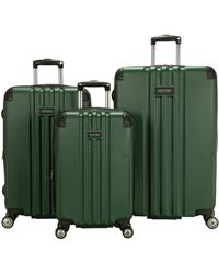 "Kenneth Cole Reaction Reverb Hardside 8-wheel 3-piece Spinner Luggage Set: 20"" Carry-on - Green"