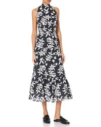 Sam Edelman High Neck Maxi Dress - Black