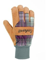 Carhartt Insulated Suede Work Glove With Knit Cuff - Yellow