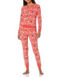 Amazon Essentials S Disney Star Wars Marvel Family Matching Snug-fit Cotton Pajamas Sleep Sets - Red