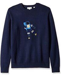 Dyed Lacoste SweaterAh4545 Fancy In Garment Stitch Sleeve Long TF5l31KcJu