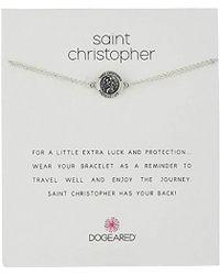 """Dogeared - St. Christopher Chain Bracelet, 6""""+2"""" Extender - Lyst"""