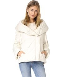 Theory Toralla Ots Short Puffer Coat - Natural