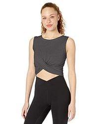 Soft Pima Cotton Stretch Knot Front Cropped Yoga T-Shirt XS-3X Core 10 Womens
