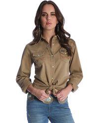 Wrangler 's Long Sleeve Western Snap Work Shirt - Multicolor