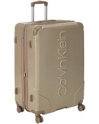 Calvin Klein Hardside Spinner Luggage With Tsa Lock - Natural