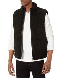 Theory Wilton Classic Faux Sherpa Reversible Vest - Black