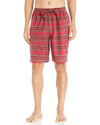 Goodthreads Flannel Pyjama Short Bright Red Tartan