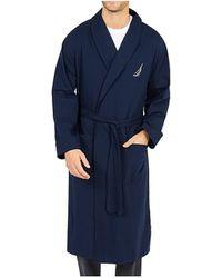 Nautica Shawl-collar Robe - Blue