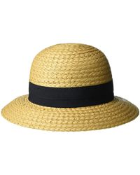 Vince Camuto Woven Paper Straw Cloche Hat - Yellow