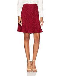 Nanette Nanette Lepore Flirty Lace Skirt - Red