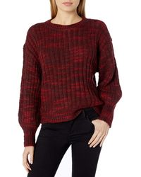 Parker Caims Marled Fashion Sweater - Red