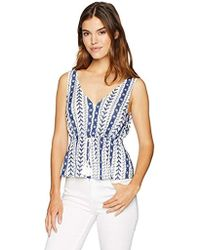Cupcakes And Cashmere - Blinda Embroidered Peplum Top - Lyst