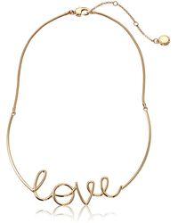 BCBGeneration Bcbg Generation Scripted Love Frontal Necklace - Metallic