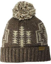Pendleton Hat Pom - Brown