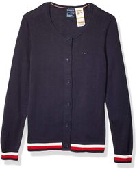 Tommy Hilfiger Adaptive Cardigan With Magnetic Buttons - Blue