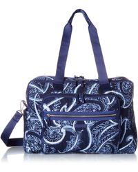 Vera Bradley Iconic Deluxe Weekender Travel Bag - Blue