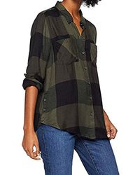 Lucky Brand Button Side Plaid Shirt In Olive Multi - Green