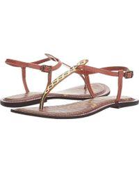 33b9848c4de4 Lyst - Sam Edelman  Gigi  Snake Print Sandals