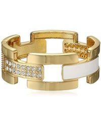 Guess - S Wide Cuff Link Bracelet - Lyst