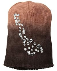 La Fiorentina - Ombre Beanie With Jewels - Lyst