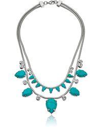 Noir Jewelry Jet Snake Rhodium Statement Necklace - Multicolor
