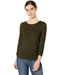 Daily Ritual Lightweight Lived-in Cotton 3/4-sleeve - Green
