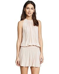 Ramy Brook - Paris Sleeveless Elastic Waist Mini Dress - Lyst