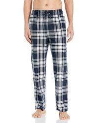 Nautica Cozy Fleece Plaid Pajama Pant - Blue
