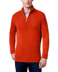 Geoffrey Beene - Quarter Zip Sweater - Lyst