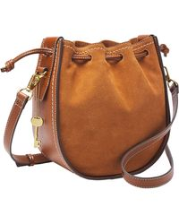 Fossil Womens Bucket Bag - Brown