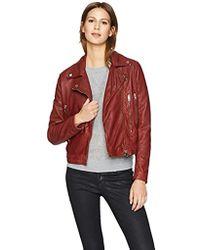 William Rast - Leather Washed Biker's Jacket - Lyst