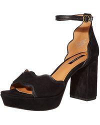 Kensie Womens Platform Dress Sandal,black,6 M Us