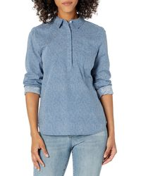 Goodthreads Washed Cotton Popover Shirt button-down-shirts - Azul
