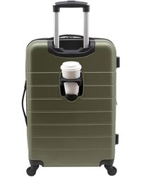 """Wrangler 20"""" Smart Spinner Carry-on Luggage With Usb Charging Port - Green"""