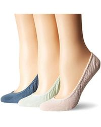 Sperry Top-Sider No Show Micro Liner Socks, 3 Pair - Multicolor