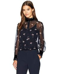 Armani Jeans - All Over Printed Silk Crepe Blouse - Lyst