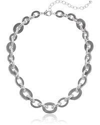Napier Casual Silver 16in Collar Necklace - Metallic