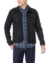 Hudson Jeans Jeans Zip Front Denim Jacket - Blue