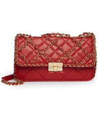 Betsey Johnson Chains Of Love Shoulder Bag - Red