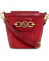 Guess Hensely Crossbody Bucket - Red