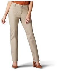 Lee Jeans Wrinkle Free Relaxed Fit Straight Leg Pant - Natural