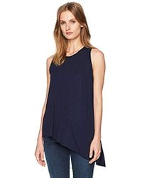 Three Dots - Slub Jersey Asymmetrical Tank - Lyst