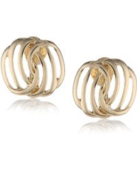 Napier Gold-tone Twisted Clip-on Earrings - Metallic