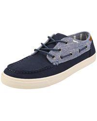TOMS Mens Dorado Boat Shoe - Blue