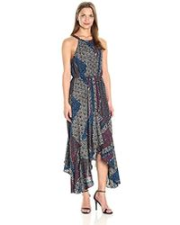 BCBGeneration - Halter Hankerchief Dress - Lyst