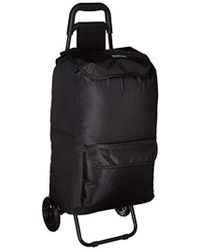 Kenneth Cole Reaction Polyester 2-wheel Urban Cart With Removable Shopping Bag - Black