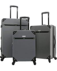Kensie 3 Piece Carroll Luggage Set - Gray