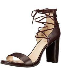 Nine West - Punton Synthetic Heeled Sandal - Lyst
