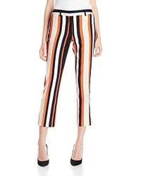 Jones New York - Stripe Dobby Texture Ankle Pant - Lyst